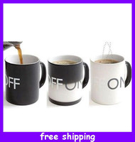 Wholesale Fantastic Magical ON OFF Color Changing Hot Cold Heat Sensitive Mug Ceramic Cup for Christmas Gift