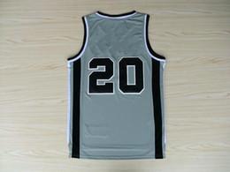 2013 new style hot sale Basketball Game Jerseys #20 grey Jersey Size S M L XL XXL XXXL