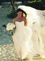 Wholesale Hot New Megan Fox Gorgeous Sweetheart Empire Chiffon Wedding Dress Simple Beach Bridal Gowns