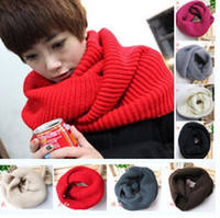 Wholesale 2012 Hotsale Knited Hood Neck Circle Cowl Wool Scarf Shawl Wrap Loop Winter Warmer Lady