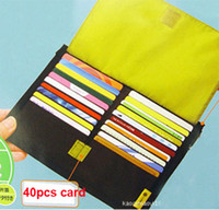 Wholesale New Fashion Pocket Business Name Credit Card Case Holder With Plastic Insert Holds Colorful