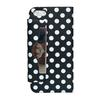 Polka Dot Leather Stand Back Cover Case For Apple iPhone 5 5th,high quality DHL shipping 30pcs lot