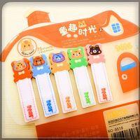 Cute Animals House Transparent Post It Sticker Bookmark Memo...