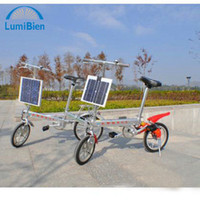 Wholesale 1pcs Folding bike Portable Electric Bicycles Booster mode bike small fold Solar Bicycle with motor