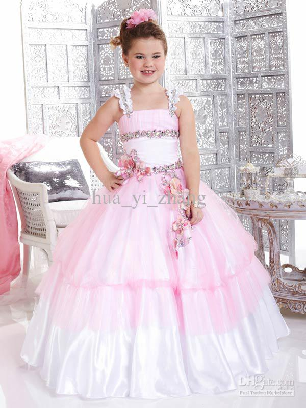 Kids Pageant Dresses Little Girls Party Dresses Pink Ball Gown ...