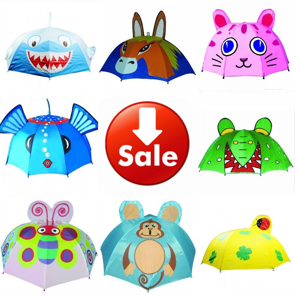 Wholesale SALE 12 Designs Children Umbrella   3D Cartoon Shape ...