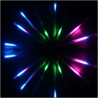 Wholesale Christmas Light CM LED x Tubes Multicolor LED Meteor Shower Rain Lights Outdoor Tree Decoratio