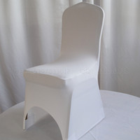 Wholesale White Spandex chair cover Lycra chair cover Wedding chair cover Banquet chair cover