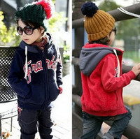 Wholesale children s clothing baby boy s outerwear double faced velvet wadded jacket