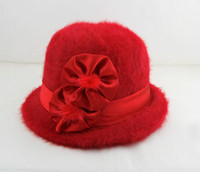 Wholesale Wool hat lady s basin hat fashion hat rabbit fur hat fashion women s fur rabbit hat