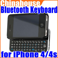 Wholesale Ultra thin Bluetooth Wireless Slide out Keyboard Case For iphone s Drop Shipping
