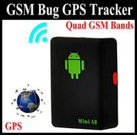 Wholesale Mini A8 Quad Band GSM GPRS GPS Tracker Audio Bug Monitor with Sound control Dialing SOS Black