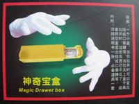 Wholesale Magic Drawer Box Tricks Treasured Box stage Props Toy for learners magicians
