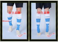 Wholesale Hot Sell Men Football Socks Baby Blue White Elite Socks Soccer Sock Sox Hosiery Sport Hose Stockings
