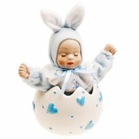 Wholesale 18 Tone Pattern Ceramic Shell Child Rabbit Baby Music Box Blue Rhyme Rise Movement Castle In The Sky