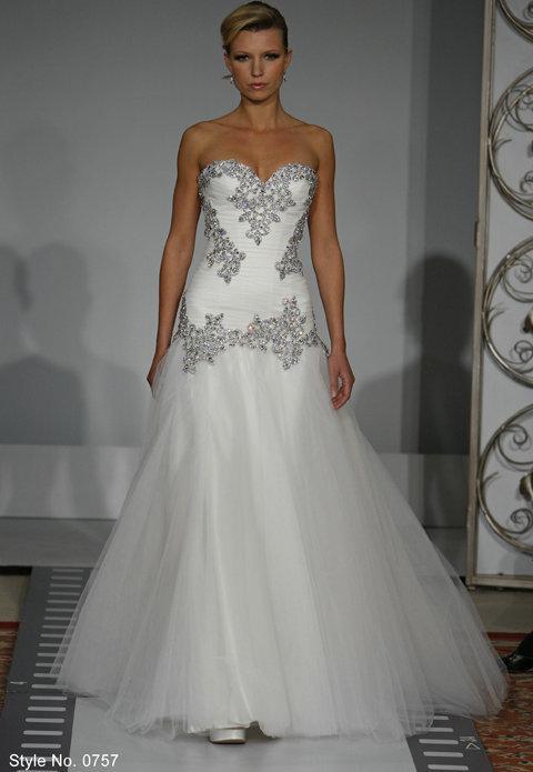 beaded crystal floor length 0757 pnina tornai wedding bridal gowns