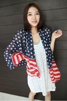 Wholesale High quality HOT stripes star American flag scarf cheap scarf lady shawl collar woman