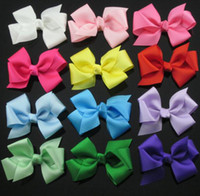 Wholesale 60pcs quot Grosgrain Ribbon Bows WITHOUT clip Hair Accessories for Girls boutique hair bows princess ribbon bows