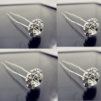 Wholesale Clear U Shape Crystal Wedding Bridal Hair Pin Hair Clip Hair Accessories