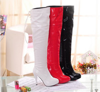 Wholesale Hot Sale Women s Shoes Over the Knee Thigh High PU Heels Boot Size Sexy Shoes colors u97gf