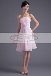 Wholesale Custom Made Pink Brilliant Knee Length Chiffon Party Gowns Homecoming Dresses