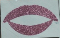 Stencil Paper ball transfers - Glitter Flash TEMPORARY TRANSFER TATTOO LIP STICKER for Festival Party Show Ball Pub Makeup