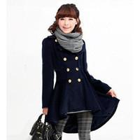 Women coats - New hot Classic Elegant Women Coat Slim Warm Woolen Winter Coat Double Breasted Lady Fashion Coat A