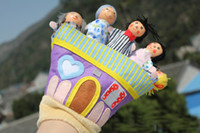baby talk doll - Baby Finger Toys Cloth Puppet Finger toy Kid Puppets Talking Props Wood Fingers Doll Xmas Gifts
