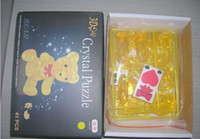 Wholesale 3D Crystal Bear Puzzle IQ Furnish Gadget Jigsaw Toy