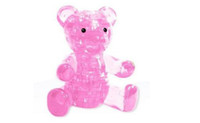 Wholesale Light Lovely Bear Puzzle D Puzzle Crystal Decoration Bear Puzzle IQ Gadget Hobby Toy Gift