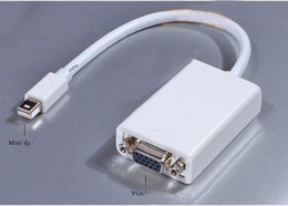 Wholesale Mini Display Port DP to VGA Video Adapter For Apple Macs Bestbuy free china post