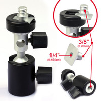 swivel ball mount - Swivel Flash Mount Shoe with Umbrella Holder Ball Head Flash Bracket for Tripod