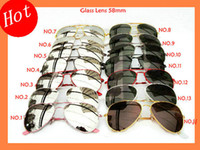 Wholesale Women s Sunglasses Metal Sunglass Frame mm Glass Lens Screw Links Mix Color order