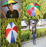 Wholesale Umbrella Hat Shade Party Gardening Costume Rain NEW