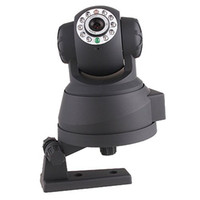 Wholesale Promotion All in One IR LED PT Dual Audio Nightvision Wired IP Camera freeshipping AAAA