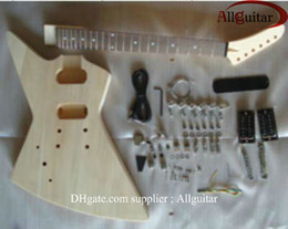 left handed Explorer guitar mahogany body unfinished guitar body with All parts HOT SALE