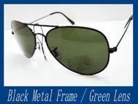 Wholesale 4pcs Men s Sunglass Gun Metal Frame sunglasses mm Glass lens Mix Color