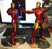 Wholesale The Avengers Figure Iron Man Toy Ironman Light Up Model PU amp Resin New In Box Christmas Gifts Toys