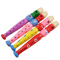 Wholesale Hot Sale Baby Wooden Flute Toy musical instruments Educational Toys Mixed styles