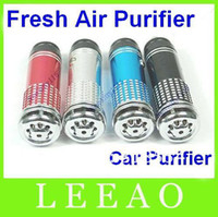 Wholesale 100pcs Mini Auto Car Fresh Air Purifier Oxygen Bar Ionizer