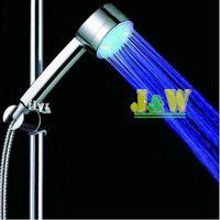 Wholesale Three Colors RGB LED Hand Bath Shower temperature sense