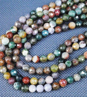 Wholesale Indian Agate Beads Faceted Ball Beads Loose Semi Precious Gemstone Beads Size mm