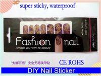 Wholesale DIY Newest super waterproof trendy nail art wrap sticker foils cover decals