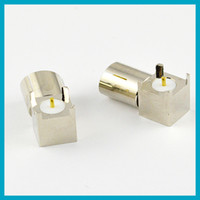 Audio & Video iec connector - IEC DVB T TV PAL female jack PCB mount right angle connector