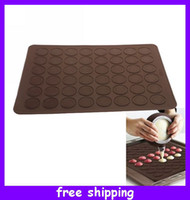 Wholesale Macaroon Baking Sheet Ovenware Silicone Muffin Cookie Chocolate Mat and Decorative Tool Mold cm