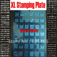 Wholesale NEW Design XL Medium Size Konad Stamp Stamping Image Plate Print Nail Art Large BIG Template
