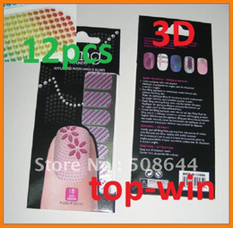 Wholesale of sets new french nail stickers d effect designs minx nail patch