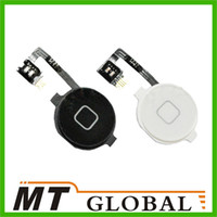 Wholesale New Home Menu Button Flex Cable Key Cap Assembly for Apple iPhone GSM CDMA White Black Color High Quality