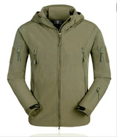Wholesale HOT Men Outdoor Hunting Camping Waterproof Coats Jacket Hoodie Army Green