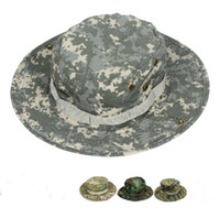 Wholesale 100 Fishing Army Marine Bucket Jungle Cotton Military Boonie Hat Cap